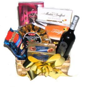 Chocolate and Wine basket